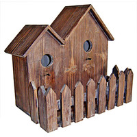 Cheung's FP-3153 Brown Wooden Double Bird House