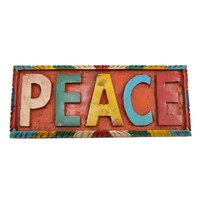 Hand Carved 'Peace' Sign