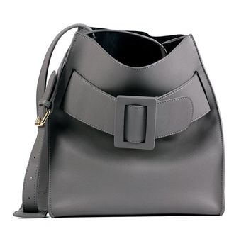 Leather shoulder bucket handbags