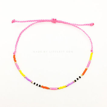 Fiesta Friendship Bracelet - Best Friend Gift - Best Friend Bracelet - Gift for Her - beaded bracelet - Seed Bead Bracelet