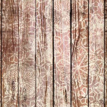 Floral Wood Pattern Backdrop - 7206