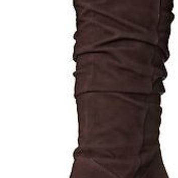 Nine West Women's Shirly Suede Slouch Boot, Brown, 10.5 M US