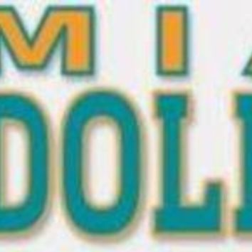 DCCKG8Q NFL Miami Dolphins 4' x 17' Perfect Cut Decal