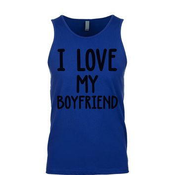 I Love My Boyfriend Men's Tank