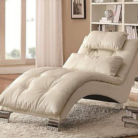 Home Furnishings Contemporary Chaise White Lounger Living Room Decor New Free
