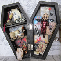 Coffin - The Devil - Miniature Coffin Shadow Box