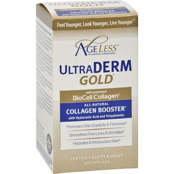 Ageless Foundation Ultraderm Gold Collagen Booster - 60 Capsules