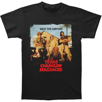 Texas Chainsaw Massacre Men's  Meat The Sawyers Slim Fit T-shirt Black