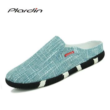 plardin 2017 Men's Sandals Breathable Summer Male Shoes Fashion Casual Beach Man Comfortable breathable Canvas Slipper Shoes