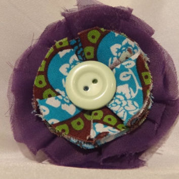One of a kind fabric hair flower  purple by AffordableAdorableKC