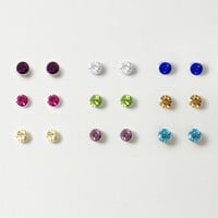 Pastel Crystal Stud Magnetic Earrings – Claire's