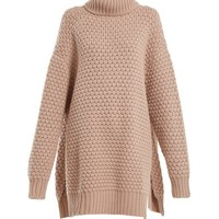 Split-side roll-neck bubble-knit cashmere sweater | Raey | MATCHESFASHION.COM US