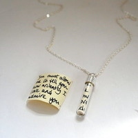Secret Message In A Bottle Pendant