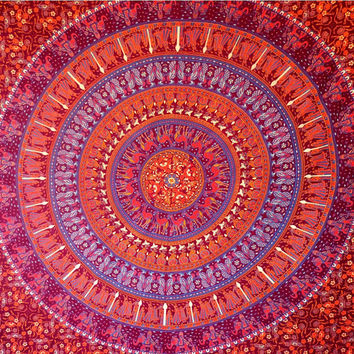 Mandala Camel Hippie Hippy Wall Hanging Indian Tapestry Throw Bedspread Bed Decor Sheet Ethnic Art