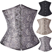 Hot Fashion Goth Steampunk Sexy Lace up Boned Corset Bustier Waist Body Shaper Top Dress