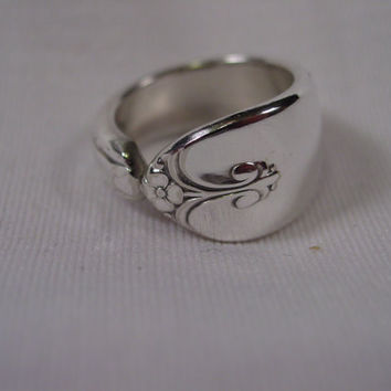 A Spoon Rings Plus Pretty Spoon Ring Exquisite Pattern Size 7 Handmade Hippie Rings t31