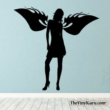Sexy Angel Pin-Up Girl Wall Decal IX
