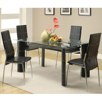 Homelegance Wilner 5 Piece Dining Room Set in Dark Cherry