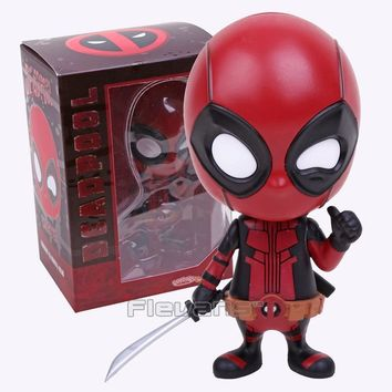 "Deadpool Dead pool Taco HOT TOYS  COSBABY PVC Figure Toys Collectible Bobblehead Action Figures Toy Dolls 4"" 10cm 3 Types AT_70_6"