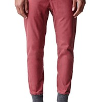 Modern Amusement Ribbed Canvas Jogger Pants - Mens Pants - Maroon