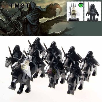 TMGT Building Blocks 18pcs/lotWM1016 Ring Witch-king of Angmar Wraith Lord of the Rings Attack on Wethertop Children Gifts Toys