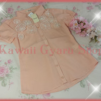 Tralala Organdy Flower Chiffon Top / Blouse (NwT) from Kawaii Gyaru Shop