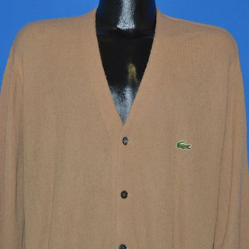70s Izod Lacoste Alligator Cardigan Sweater Extra Large