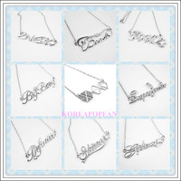 EXO/BIGBANG/SHINEE/SNSD/2NE1/2PM/TVXQ/BEAST/INFINITE SUPER JUNIOR NECKLACE KPOP