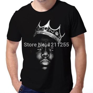 King Biggie Small The Notorious B.I.G. Big Poppa Hip Hop Music T-Shirt Men 100% Cotton Printed Custom TShirt Size S~3XL
