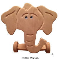 Toddler ride on toy solid wood. Elephant.  ©