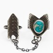 The Stray Arrow Womens Chained Turquoise Arrow Ring