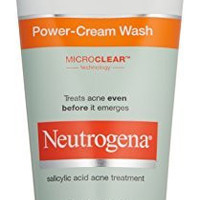 Neutrogena Oil-Free Acne Stress Control Power-Cream Wash, 6 Ounce (Pack of 3)