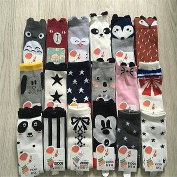 Newborn Baby Girls Soft Lovely Bow-Knot Socks Cotton Casual Kids Ankle Bubble Mouth Socks Toddler Leg Warmers Boys Girls Knee