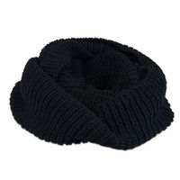 Black Knitted Funnel Snood