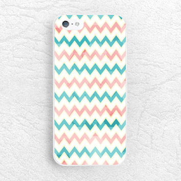 Vintage Tiffany Blue x Coral Chevron phone case for iPhone, Sony z1 z2 z3 compact, LG g2 g3, HTC one m7 m8, Moto x Moto g, Nokia lumia -P22