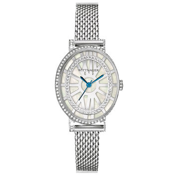 Wittnauer WN4038 Women's Charlotte White MOP Dial Stainless Steel Watch