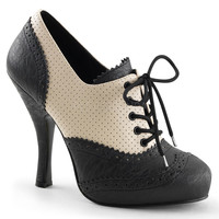 Black & Cream Cutie Pie Lace Up Spectator Oxfords