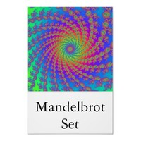 Mandelbrot Set (15 arm spiral) Posters from Zazzle.com