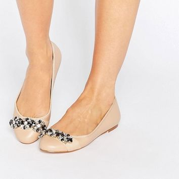Faith Annie Embellished Ballet Flat Shoes at asos.com