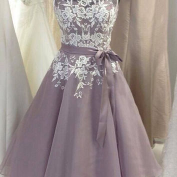 Short Prom Dresses, A-Line Prom Dresses, Evening Dress