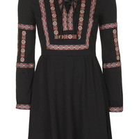 TALL Embroidered Smock Dress - Topshop