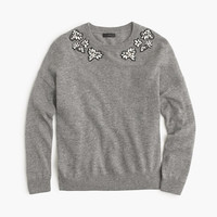 J.Crew Womens Petite Opal-Embellished Sweater
