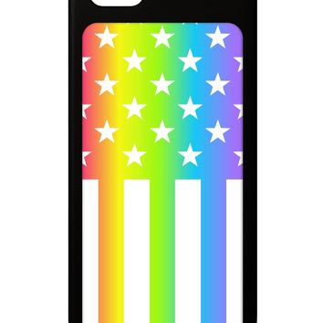 American Pride - Rainbow Stars and Stripes iPhone 5 / 5S Grip Case  All Over Print by TooLoud
