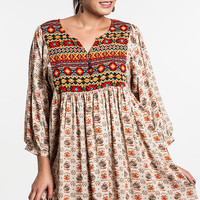 PS Plus Peace, Love, and Understanding Dress - Taupe Mix