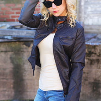 Night In Nashville Moto Jacket {Chocolate}
