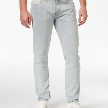 GUESS MENS DESTROYED SLIM-FIT TAPERED JEANS