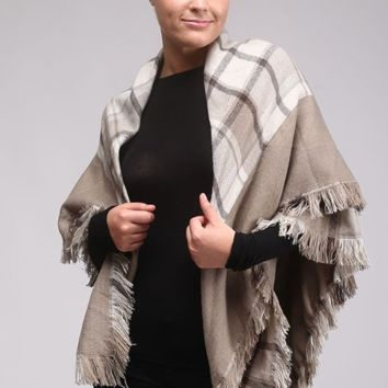 Blanket Scarf- Taupe