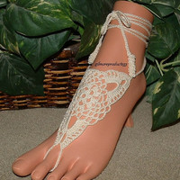 #bridal #anklet #jewelry #bridesmaid #crochet #sandals #shoes