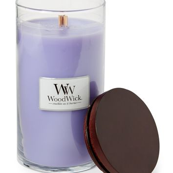 Woodwick Blue Lavender Glass Jar Candle