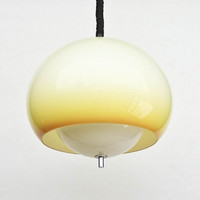 Atomic Ceiling Light / Guzzini /  Space Age Ceiling Lamp Pendant Lamp / 70's Italy / Yellow